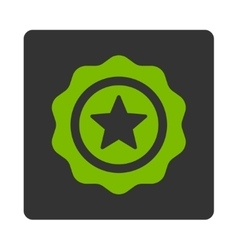 Reward seal icon from award buttons overcolor set vector