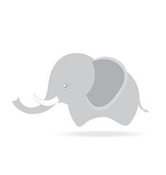 Cute male elephant cartoon drawing thailand vector