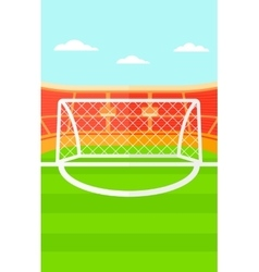 Background of soccer stadium vector