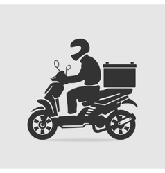 Bike food delivery vector image