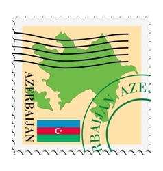 mail to-from Azerbaijan vector image