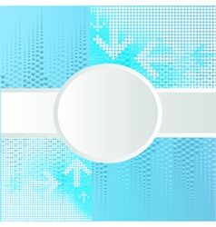 Background with circle for text vector