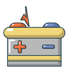 car battery icon cartoon style vector image