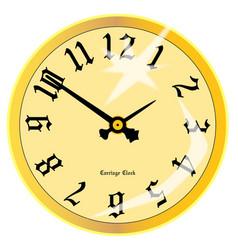Carriage clock face vector