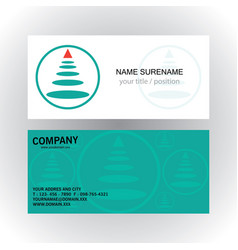 circle oval strip business logo business card vector image