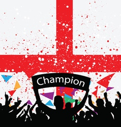 crowd cheer england vector image vector image