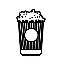 Delicious pop corn icon vector