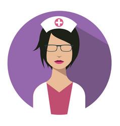 doctor web icon nurse avatar vector image vector image
