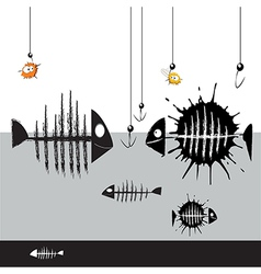 Fish smile vector