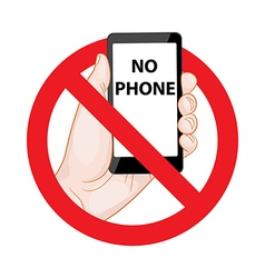 Forbidding Signs No Phone vector image vector image