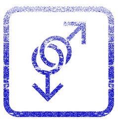 Gay love symbol framed textured icon vector