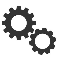 Gears flat icon vector