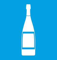 Glass bottle icon white vector