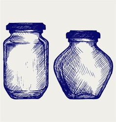 Glass jars vector image vector image