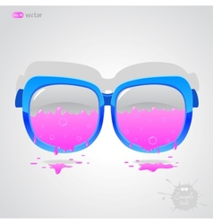 glasses pink vector image vector image