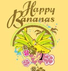 Happy bananas design vector