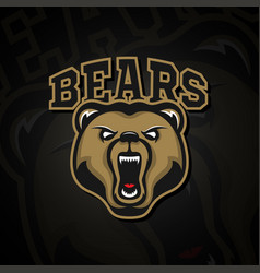 Logo grizzly bear logo for a sport team vector