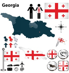 Map of Georgia vector image