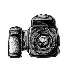medium format camera vector image