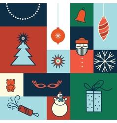 Merry christmas icon card vector