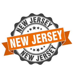 New jersey round ribbon seal vector