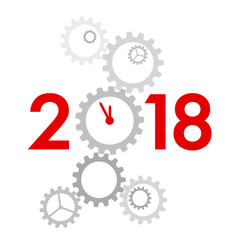 new year 2018 concept - vector image