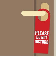 Please Do Not Disturb Door Hanger vector image