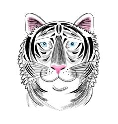 Portrait of tiger vector