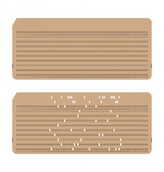Punched cards vintage computer data storage vector