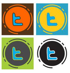 Set of tumblr social media icons vector