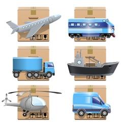 Shipment icons vector