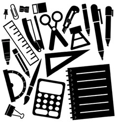 stationeries vector image vector image