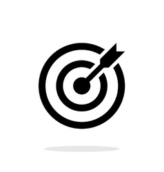 Successful shoot darts target aim icon on white vector