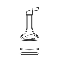 syrup bottle icon vector image