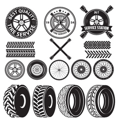 Tire service label2 vector