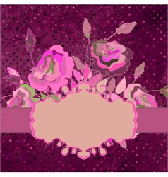 Vintage template with floral background EPS 8 vector image vector image