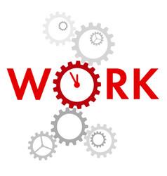 Word work with big gear instead o vector