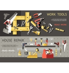 Work Tools Concept Banner Set vector image