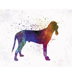 Ariege hound in watercolor vector