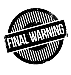 Final Warning rubber stamp vector image