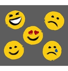 Smiley Faces Painted Emoticons vector image
