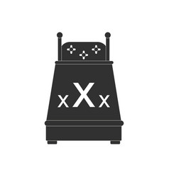black icon on white background sex bed vector image