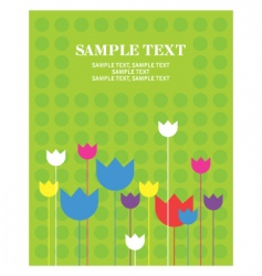 Greeting card flower vector
