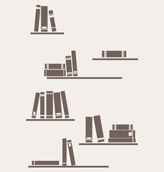 Simply retro books vector image