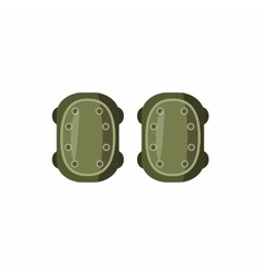 Military knee pads icon cartoon style vector