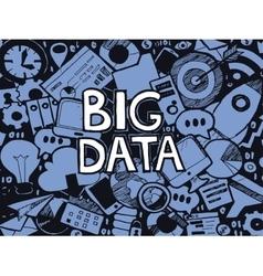 Big data doodle sketch vector