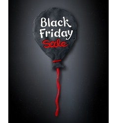 Black friday lettering and plasticine balloon vector