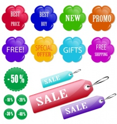 buttons for online store vector image