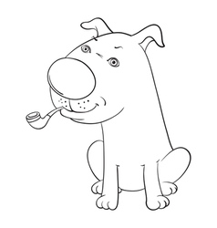 dog with pip vector image vector image