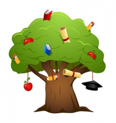 education tree vector image vector image